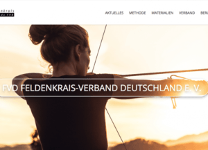 Screenshot Feldenkrais Verband Website